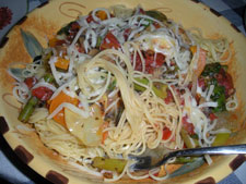 Pasta and vegetables