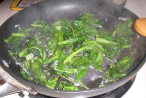 Cooking up some greens!