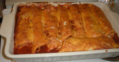 Mom's Homemade Bean Enchiladas